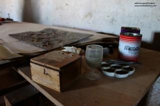 lo studio di Balthus nell'ultimo piano del Castello di Montecalvello
